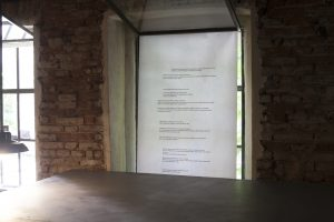 Installation view of the exhibition by Andrea Sobotková